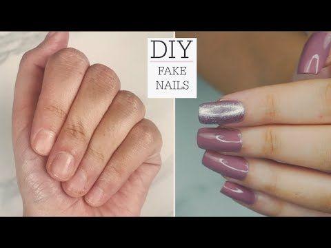 Diy Easy Fake Nails At Home No Acrylic Youtube Fake Nails Nail Designs Flower Nail Designs