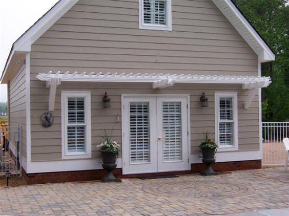 Small yard patio update garden love pinterest - No Post Pergola How Far Can The Overhang Be Interesting