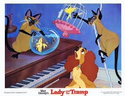 Lady and the tramp, Siamese cats and Siamese on Pinterest