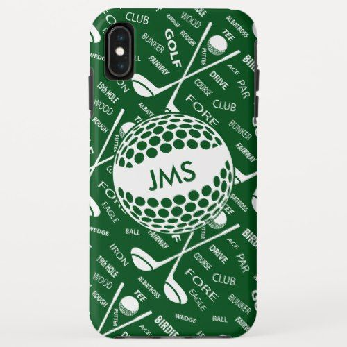 Monogrammed Pattern For The Golfer Case Mate Iphone Case Zazzle
