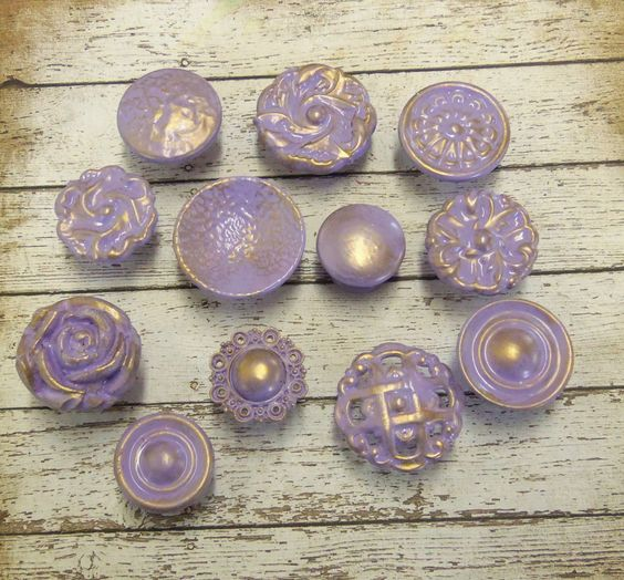 Purple Lavender Collection Knobs 12 Vintage and by prettyware . . Tempted to buy these for the dresser.