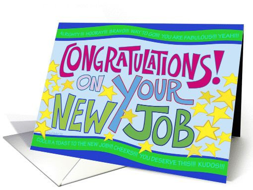 New Job Congratulations Card With Images New Job