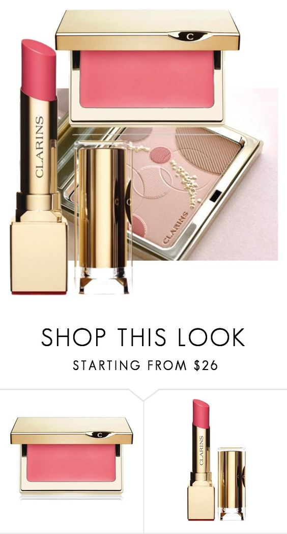 """""""227. This spring's lipstick."""" by kristina-lindstrom ❤ liked on Polyvore featuring Clarins"""
