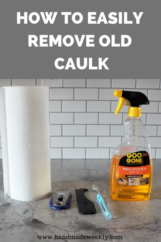 How To Easily Remove Old Caulk Cleaning Hacks Caulk House Cleaning Tips