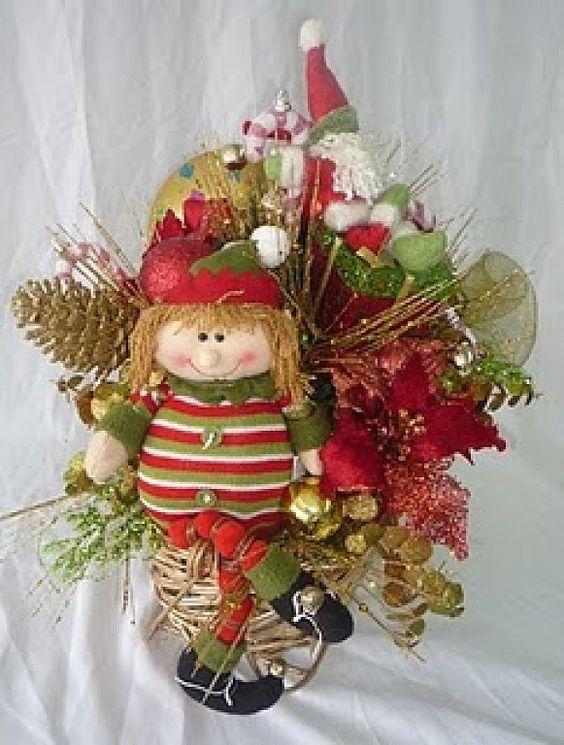 Centros de mesa para navidad navidad y mesas - Centros florales navidenos ...