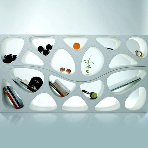 Weiße Designer Wandregale von gt2P | Möbel - Art deco möbel ...