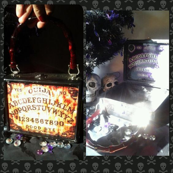 Awesome Posessed Ouija board Cigar box purse  https://www.etsy.com/shop/PhantomBoxPurses