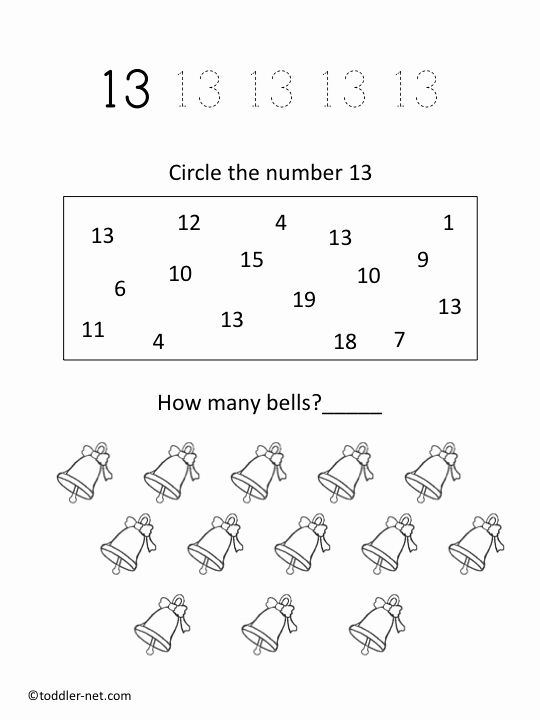 Number 13 Coloring Page Elegant Free Printable Number 13 Worksheet