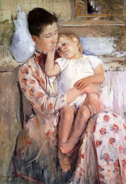 Mother And Child XI - Mary Cassatt (1844 – 1926) French Impressionist)
