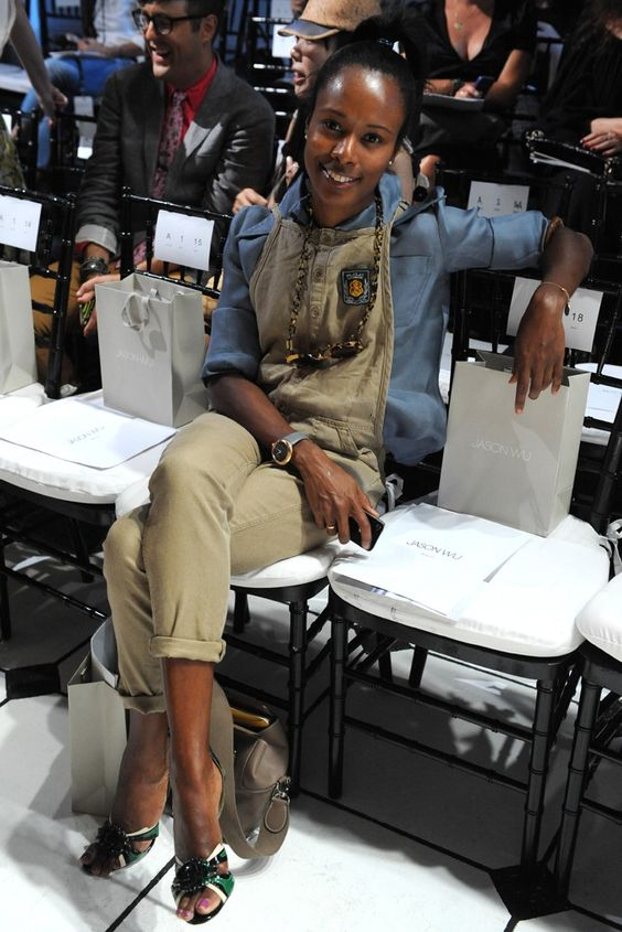 Shala Monroque Front Row at Jason Wu.