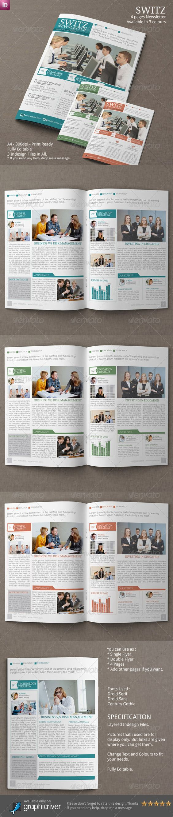 Print Templates  Newsletter Vol   Indesign Template