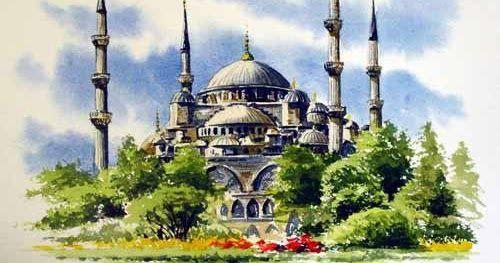 11 Lukisan Kaligrafi Terindah 20 Contoh Gambar Lukisan Masjid Terindah Karya Seniman Download Hasil Project Pembuata Di 2020 Gambar Arsitektur Pemandangan Lukisan