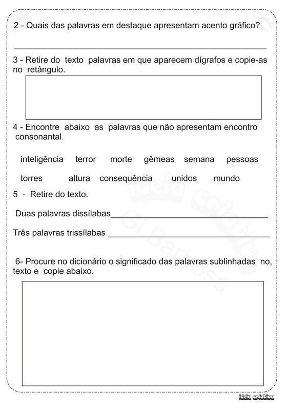 SOS PROFESSOR-ATIVIDADES: Acentuação