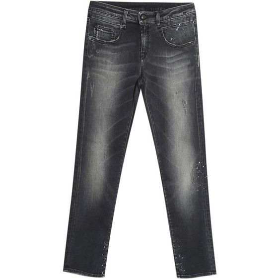 R13 Skinny Boy Jeans ($519) ❤ liked on Polyvore featuring jeans, 5 pocket jeans, grunge jeans, black jeans, tailored jeans and r13 skinny jeans