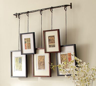 Twig Display System from pottery barn: Photo Display, Wall Hanging, Hanging Photo, Living Room, Hanging Picture, Hanging Frame