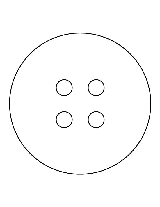 Button pattern use the printable outline for crafts for Design a button template free