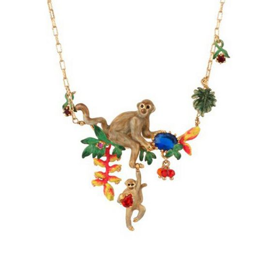 Find More Pendant Necklaces Information about 2016 New Les nereides luxury Lovely romantic monkey sapphire necklace Jewelry,High Quality necklace jewelry organizer,China necklace finding Suppliers, Cheap jewelry findings pin backs from Mak fashion jewelry store on Aliexpress.com