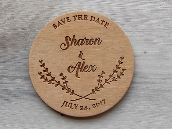 Sharon & Alex Lovely Wood Coasters!