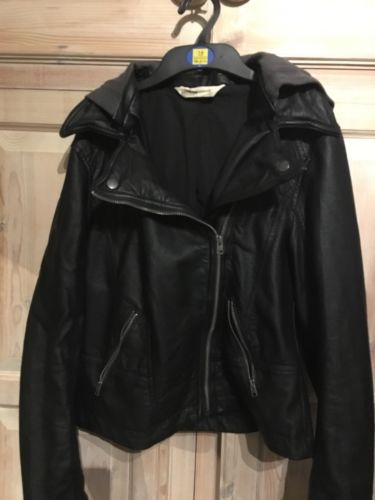 Hollister Leather Look Hooded Biker Jacket https://t.co/OwW87F3Vta https://t.co/0BsQ0T3XVS