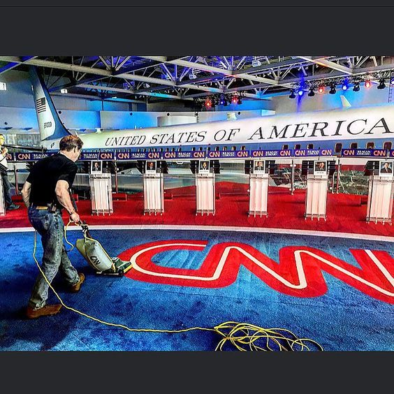 An awesome Virtual Reality pic! #cnn #ronaldreaganlibrary #virtualreality #debate #election2016 #nextvr  @djroller by djroller check us out: http://bit.ly/1KyLetq
