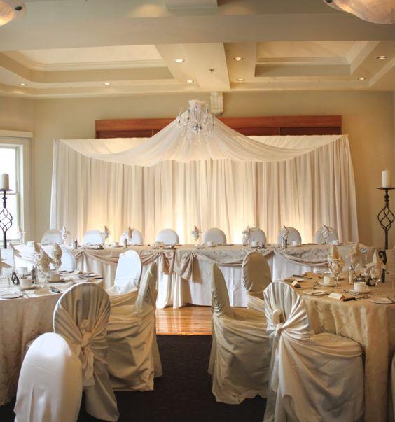 wedding backdrop ideas | Fabric Wedding Backdrops - Edmonton Wedding & Party Centre Edmonton ...
