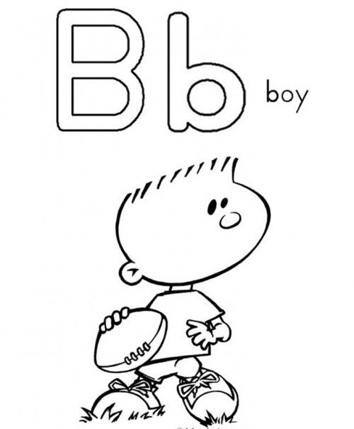 Letter B Is Small And A Nice Big Coloring Page | preschool ideas ...