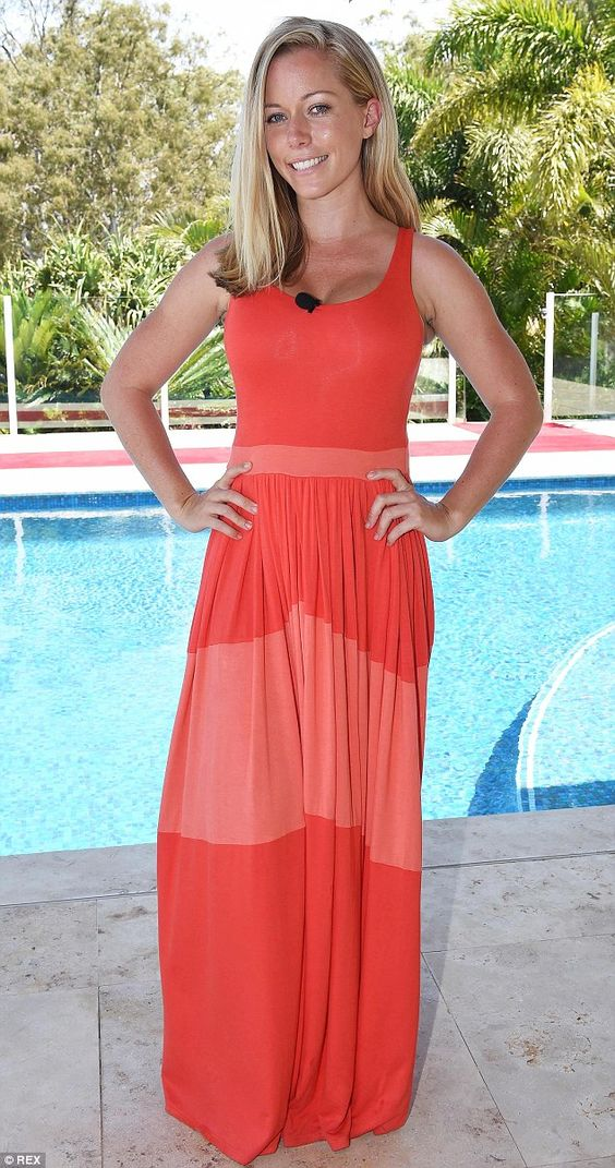 Pre-jungle glamour: Kendra cuts a more stylish figure when she's not living in the jungle