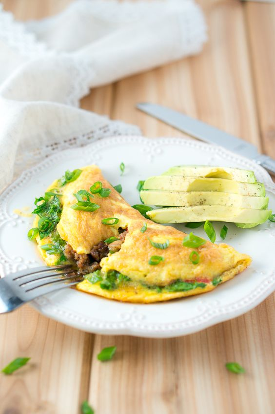 Easy and delicious kale and sausage omelet. Only 10 minutes to make. You will ask for more!