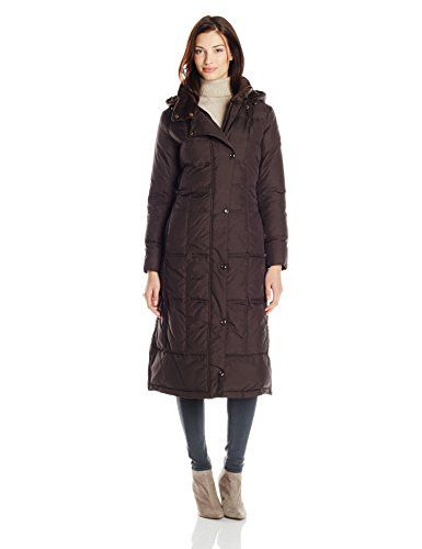 Larry Levine Women's Maxi Down Coat, Chocolate, Small Larry Levine http://www.amazon.com/dp/B00L287Q9W/ref=cm_sw_r_pi_dp_l3q8vb111ZAG3