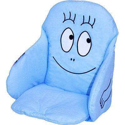 Babycalin Coussin de chaise tissu barbapapa bleu