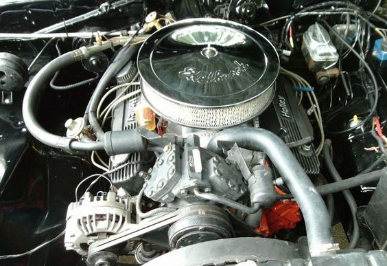 From the '72 Gold Duster in another pin. A modded 318 mated to a 4 spd, 3.55 axle ratio