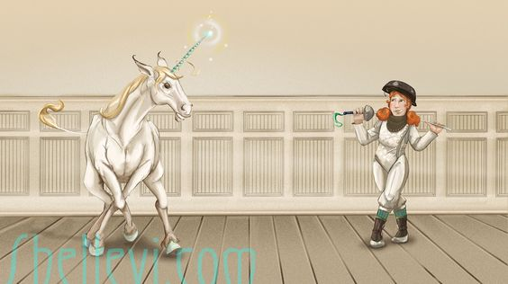 Tasha and unicorn. From my ongoing series, 'girls with monsters'.