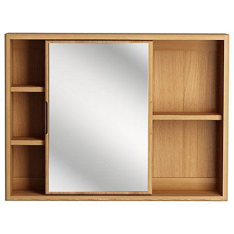 Buy John Lewis More Sliding Mirror Bathroom Cabinet Online At Johnlewis Com Bathroom Mirror Cabinet Mirror Cabinets Bathroom Cabinets Uk