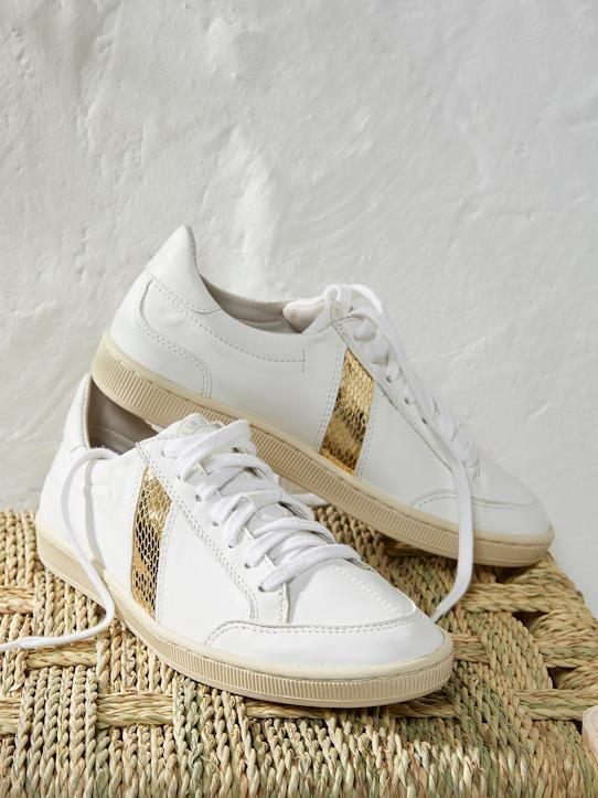 Baskets Lafrica de Sawa Blanc détail doré | Mocassins