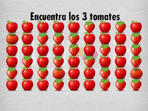 Encuentra los 3 tomates