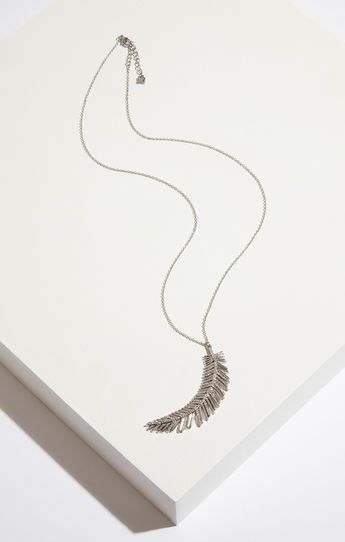 Pave Feather Necklace