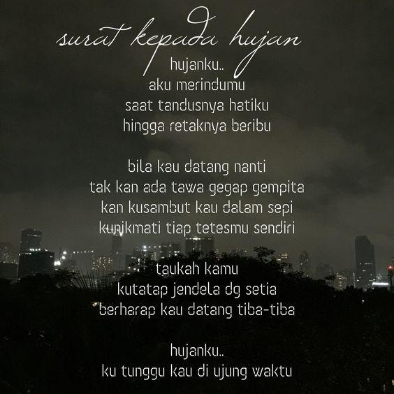 quotes puisi surat kepada hujan puisi cinta hati hitam ku