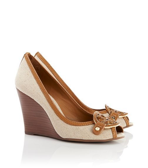 Tory Burch amanda open toe wedge - great summer shoe for work