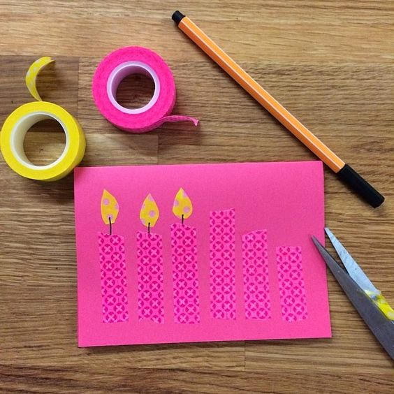 You are In Good Company: IN GOOD HANDS - Washi Tape Birthday Card