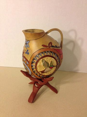 Gourd Art Pitcher Southwest with by GourdNMoreByLorraine on Etsy, $55.00