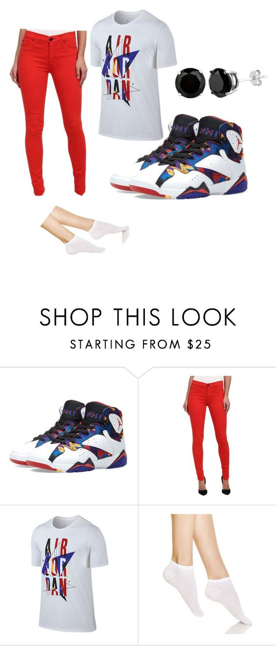 """""""J.O.R.D.A.N.S"""" by pound2lafreek ❤ liked on Polyvore featuring Hudson, Jordan Brand and Wolford"""
