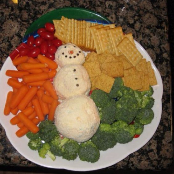 Snowman Cheeseball Appetizer...yup, Making This For My