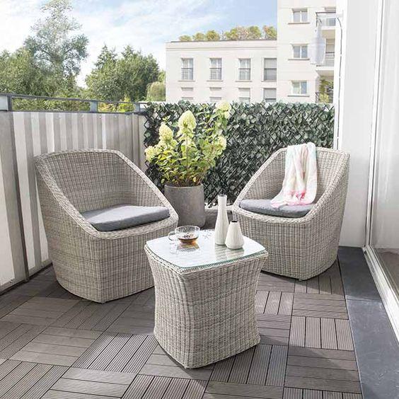 399 eur salon de jardin effet rotin tress collection - Salon de jardin rotin synthetique collection corona balcon ...