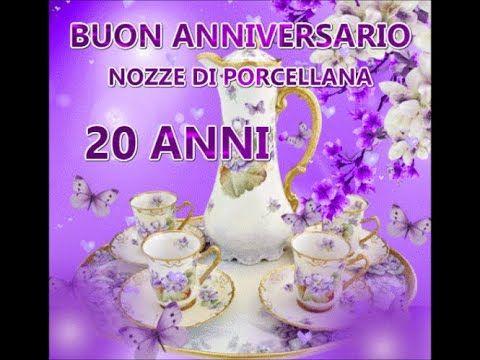 Anniversario Di Matrimonio 20.Buon Anniversario Nozze Di Porcellana 20 Anni Di Matrimonio