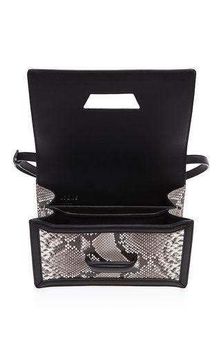 LOEWE | Barcelona Shoulder Bag | Natural And Black Python | $3950