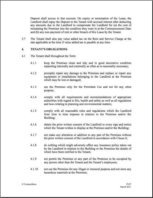 Printable Sample Commercial Lease Agreement Form – Commercial Lease Agreement Doc