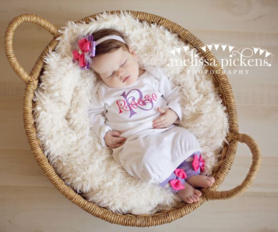 Layette Gown Set Reese by ToBeStitched on Etsy, $39.00