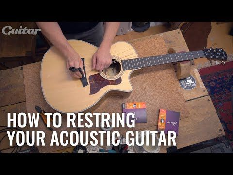 How To Correctly Restring Your Acoustic Guitar Com Diy Youtube Acoustic Guitar Diy Guitar