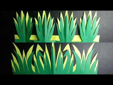An Easy Paper Grass Border Design For Bulletin Boards Youtube