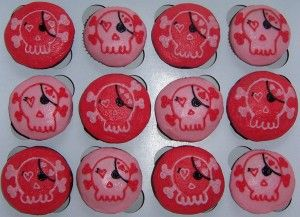 Pink Pirate Cupcakes